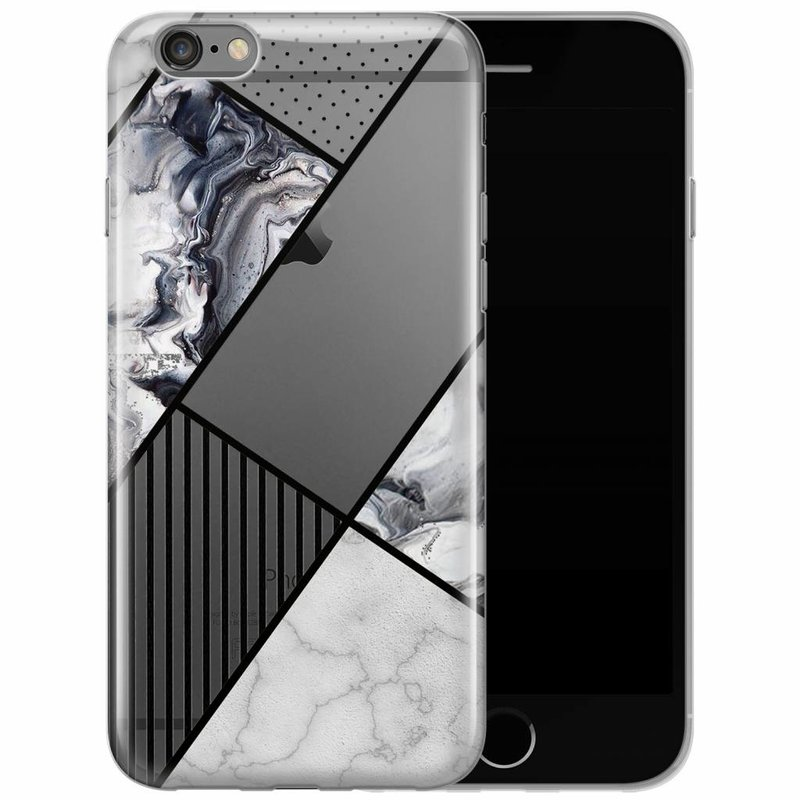 iPhone 6/6s transparant hoesje - Abstract