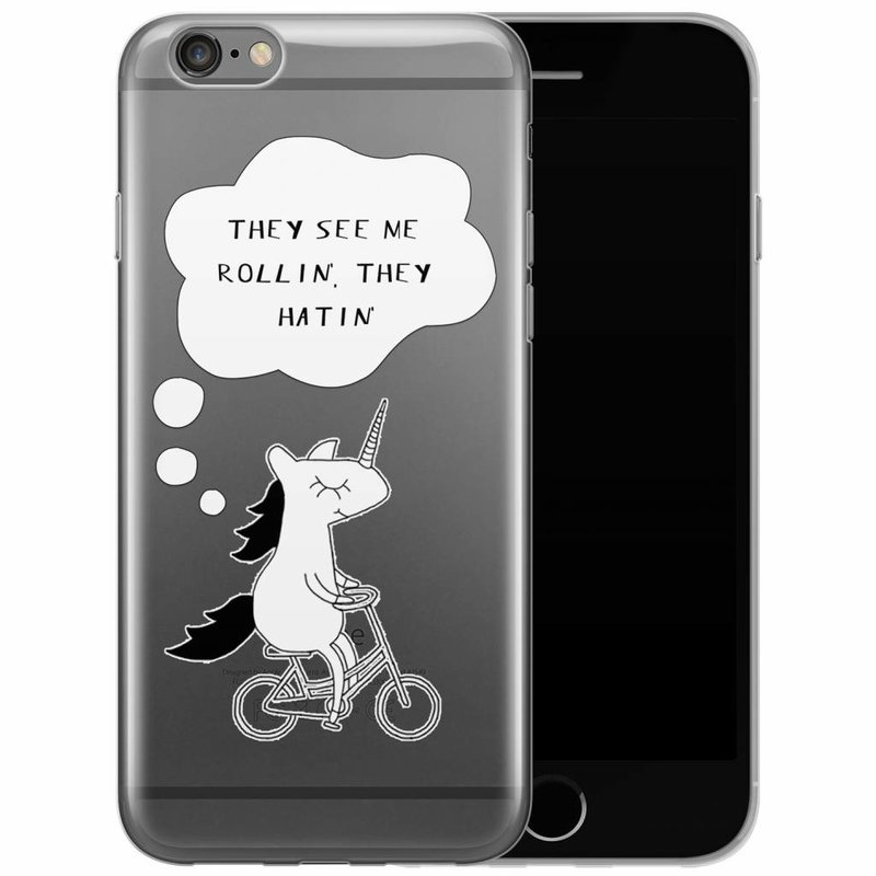 iPhone 6/6s transparant hoesje - They see me rollin'