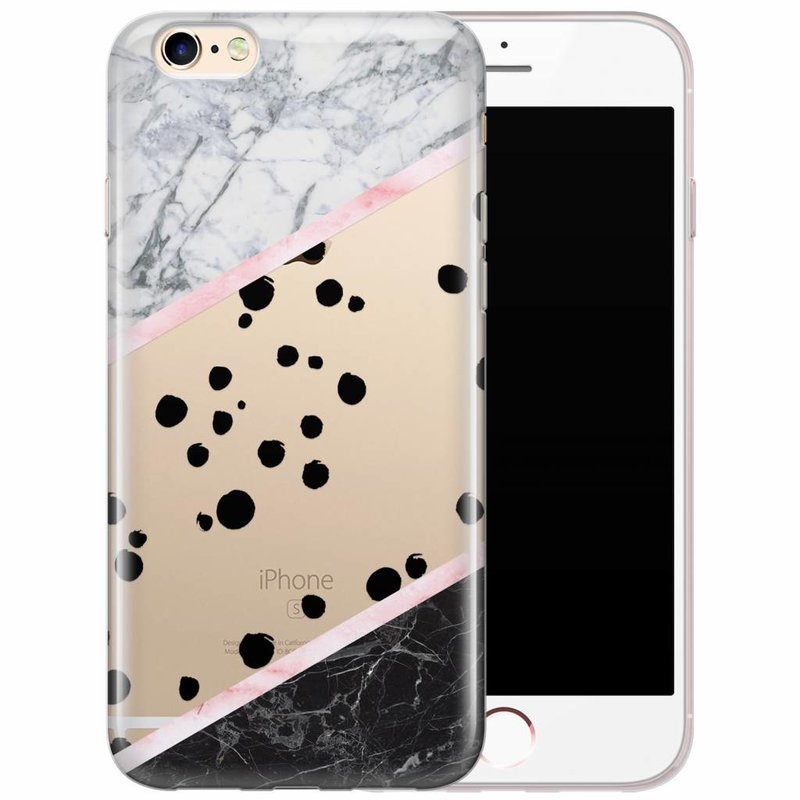 iPhone 6/6s siliconen hoesje - Marble dots