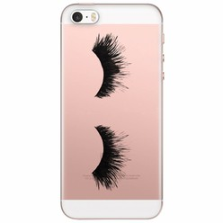 iPhone 5/5S/SE transparant hoesje - Lashes