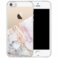 iPhone 5/5S/SE transparant hoesje - Parelmoer marmer