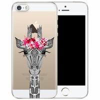 iPhone 5/5S/SE transparant hoesje - Giraffe
