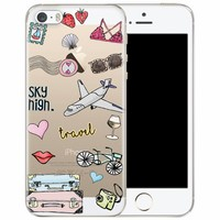 iPhone 5/5S/SE transparant hoesje - Let's travel