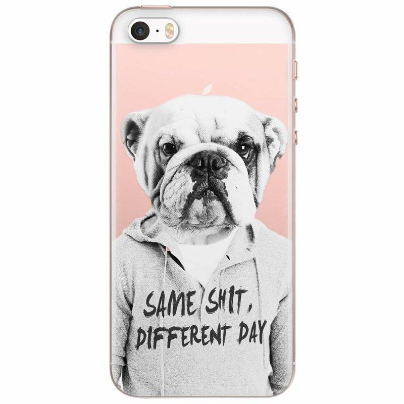 iPhone 5/5S/SE transparant hoesje - Bulldog