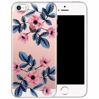 iPhone 5/5S/SE transparant hoesje - Floral mood