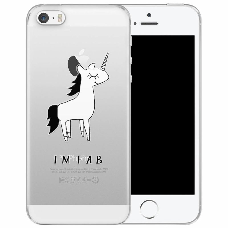 iPhone 5/5S/SE transparant hoesje - I'm fab