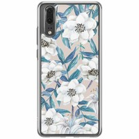 Casimoda Huawei P20 siliconen hoesje - Touch of flowers