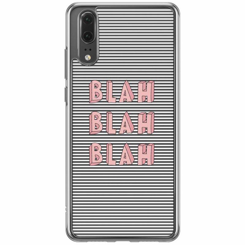 Casimoda Huawei P20 siliconen hoesje - Blah blah blah