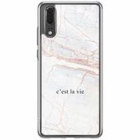 Casimoda Huawei P20 siliconen hoesje - C'est la vie