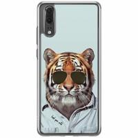 Casimoda Huawei P20 siliconen hoesje - Tijger wild