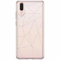 Huawei P20 siliconen hoesje - Pastel vlakken