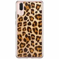 Casimoda Huawei P20 siliconen hoesje - Luipaard print