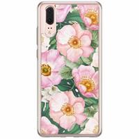 Casimoda Huawei P20 siliconen hoesje - Spring floral