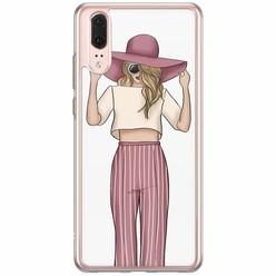Huawei P20 siliconen hoesje - Summer girl
