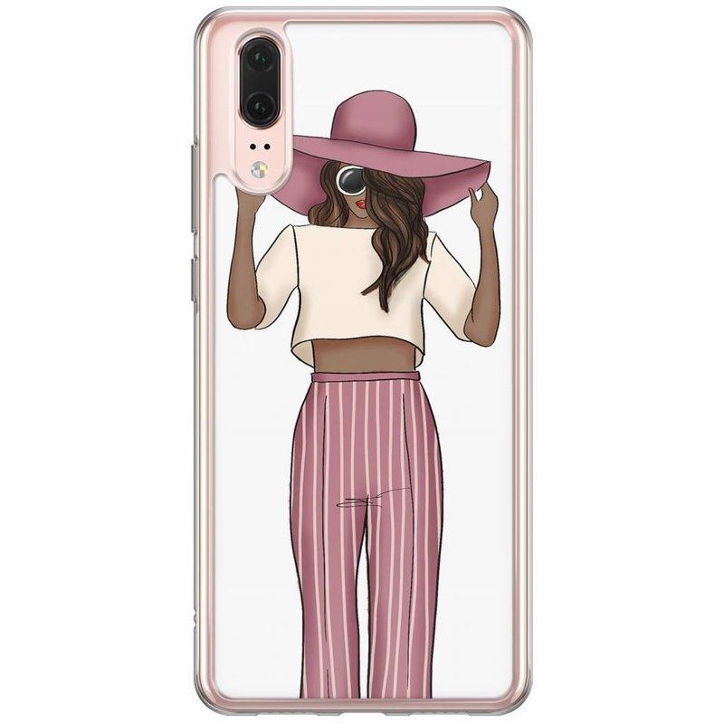 Casimoda Huawei P20 siliconen hoesje - Summer girl