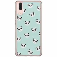 Casimoda Huawei P20 siliconen hoesje - Panda print
