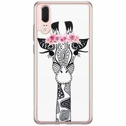 Casimoda Huawei P20 siliconen hoesje - Giraffe