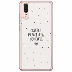 Casimoda Huawei P20 siliconen hoesje - Collect beautiful moments