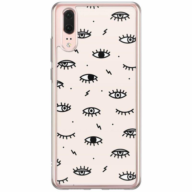 Casimoda Huawei P20 siliconen hoesje - Eyes on you