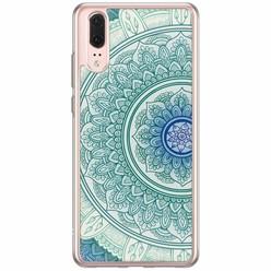 Casimoda Huawei P20 siliconen hoesje - Mandala blauw