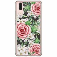 Casimoda Huawei P20 siliconen hoesje - Rose story