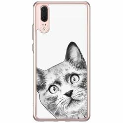 Casimoda Huawei P20 siliconen hoesje - Kiekeboe kat