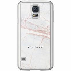 Samsung Galaxy S5 (Plus) / Neo siliconen hoesje - C'est la vie