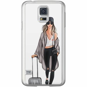 Samsung Galaxy S5 (Plus) / Neo siliconen hoesje - Travel girl