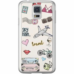 Casimoda Samsung Galaxy S5 (Plus) / Neo siliconen hoesje - Let's travel