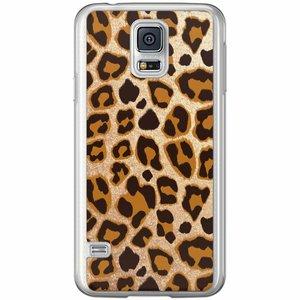 Samsung Galaxy S5 (Plus) / Neo siliconen hoesje - Luipaard print
