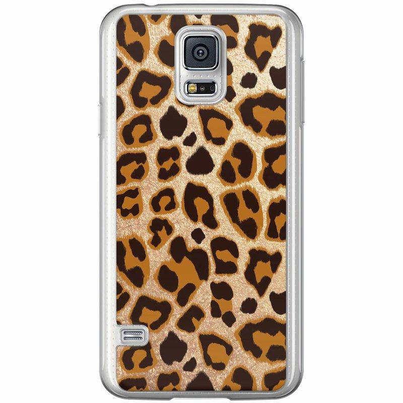Casimoda Samsung Galaxy S5 (Plus) / Neo siliconen hoesje - Luipaard print