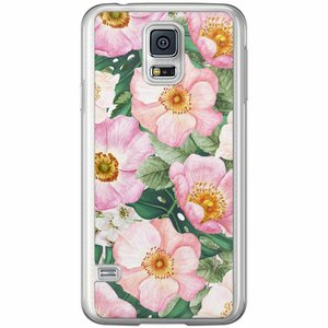 Samsung Galaxy S5 (Plus) / Neo siliconen hoesje - Spring floral