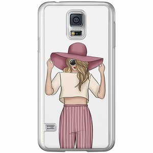 Samsung Galaxy S5 (Plus) / Neo siliconen hoesje - Summer girl