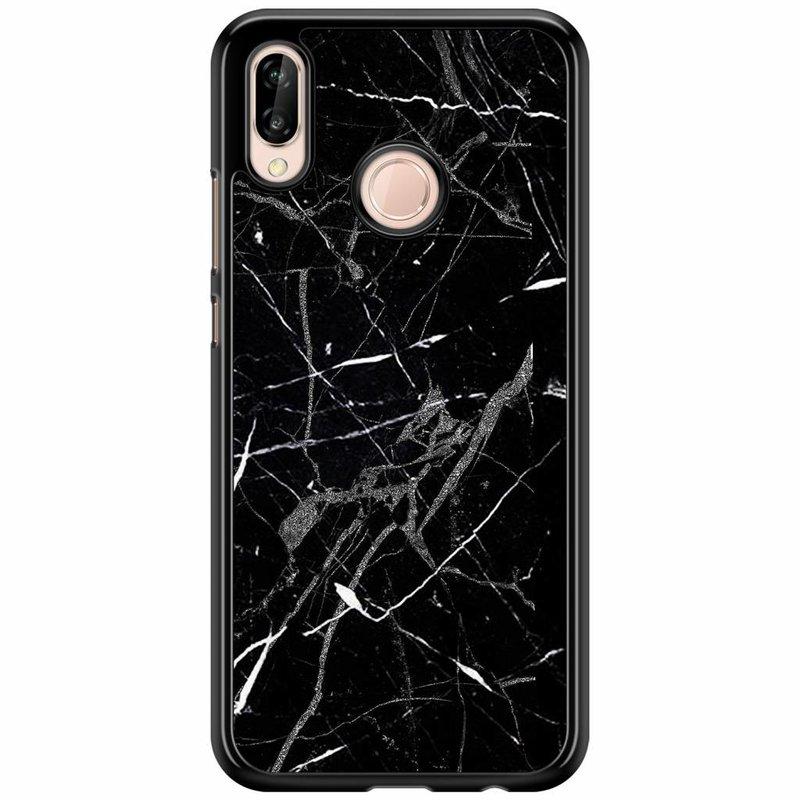 Huawei P20 Lite hoesje - Marmer zwart