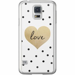Casimoda Samsung Galaxy S5 (Plus) / Neo siliconen hoesje - Love dots