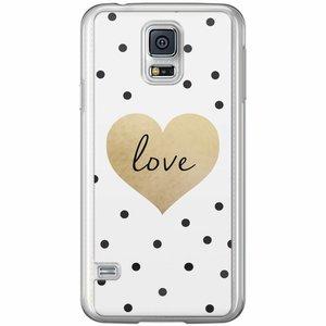 Casimoda Samsung Galaxy S5 (Plus) / Neo siliconen hoesje - Love dots