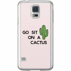 Casimoda Samsung Galaxy S5 (Plus) / Neo siliconen hoesje - Go sit on a cactus