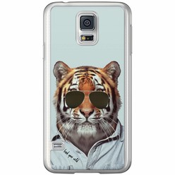 Samsung Galaxy S5 (Plus) / Neo siliconen hoesje - Tijger wild