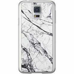 Casimoda Samsung Galaxy S5 (Plus) / Neo siliconen hoesje - Grijs marmer