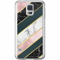 Casimoda Samsung Galaxy S5 (Plus) / Neo siliconen hoesje - Marble stripes