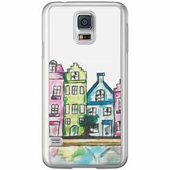 Casimoda Samsung Galaxy S5 (Plus) / Neo siliconen hoesje - Amsterdam