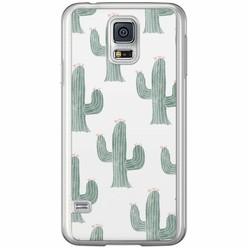 Casimoda Samsung Galaxy S5 (Plus) / Neo siliconen hoesje - Cactus print