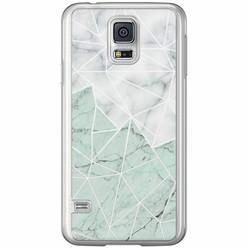 Casimoda Samsung Galaxy S5 (Plus) / Neo siliconen hoesje - Marmer mint mix