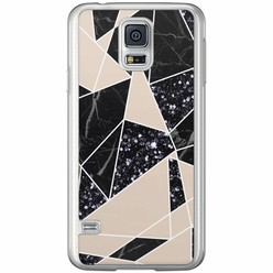 Casimoda Samsung Galaxy S5 (Plus) / Neo siliconen hoesje - Abstract painted