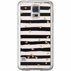 Casimoda Samsung Galaxy S5 (Plus) / Neo siliconen hoesje - Hart streepjes