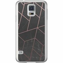 Casimoda Samsung Galaxy S5 (Plus) / Neo siliconen hoesje - Marble grid