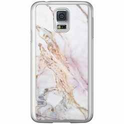 Casimoda Samsung Galaxy S5 (Plus) / Neo siliconen hoesje - Parelmoer marmer
