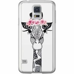 Casimoda Samsung Galaxy S5 (Plus) / Neo siliconen hoesje - Giraffe