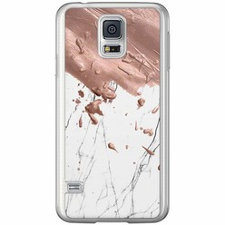 Casimoda Samsung Galaxy S5 (Plus) / Neo siliconen hoesje - Marble splash