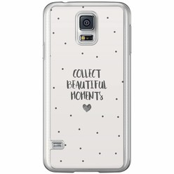 Samsung Galaxy S5 (Plus) / Neo siliconen hoesje - Collect beautiful moments